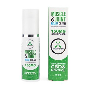 Green Roads CBD Muscle & Joint Relief Topical Pain Cream 150mg, 1Oz.