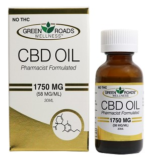 Green Roads Wellness Sublingual CBD Oil 1750mg, (30mL)